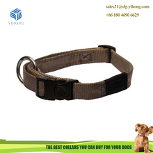 Soft webbing locking dog collar with custom LOGO printing break away buckle