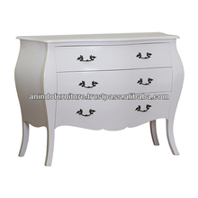 French White Painted Commode with 3 Drawers