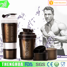 500ml Custom Logo Plastic Protein Water Bottle, shaker bottle uk