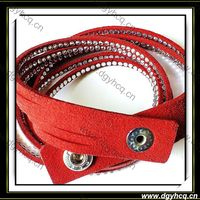 Top Quality Microfiber Suede Crystal Leather
