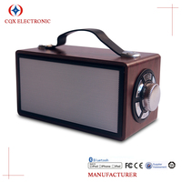 New High end wood super sound box wireless portable mobile phone speaker box with fm radio