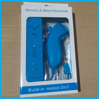 For wii Remote Plus and Nunchuk set with blister color box packaging