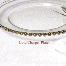 Factory Wedding Beaded Charger Plate Wholesale