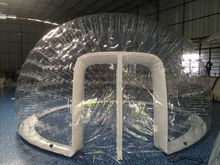 Inflatable transparent bubble tent air sealed transparent double deck bubble tent for event /spa /exhibition