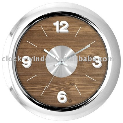 wall clock aluminum and plastic dial