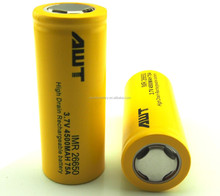 china suppliers original awt imr 26650 75a 3.7 v 4500mah li-ion rechargeable battery electric scooter electric bike e cigarette