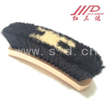 100% horse hair wooden shoe brush