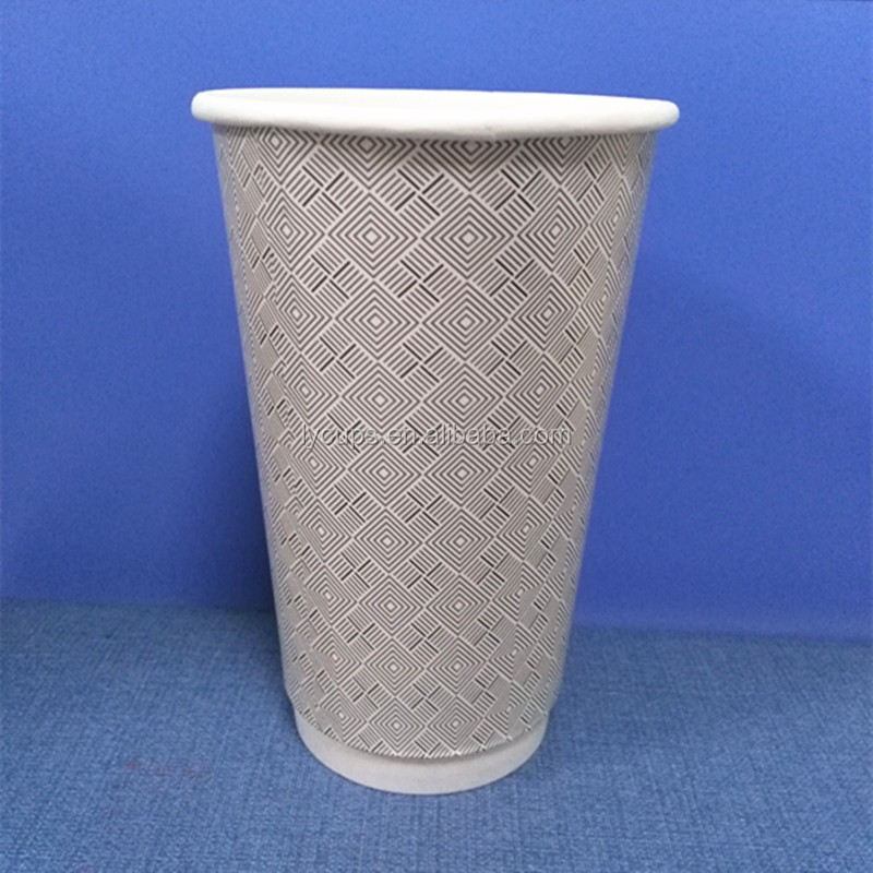 8oz 12oz 16oz double wall takeway coffee paper cup disposable paper cup