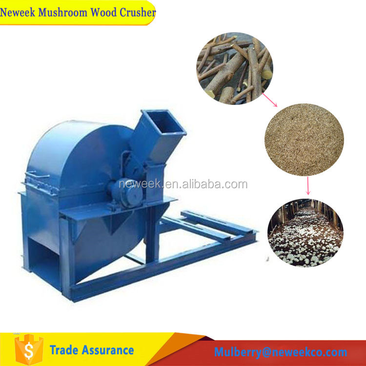 Neweek 1200-4000 kg/h branch crushing root sawdust wood crusher
