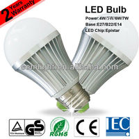 TUV CE RoHS IEC Approved 5W 7W E27 LED Light Bulb(SEM-B51-02)