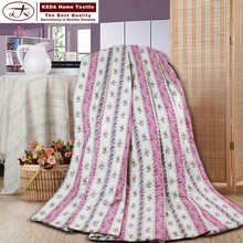 Alibaba China wholesale 100% microfiber fabric patchwork quilt cotton bedding quilt