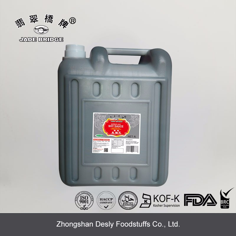 Catering Non MSG Bulk Light soy sauce 8L