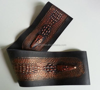 Golden steering wheel covers skin, leather hand sewing steering wheel covers