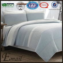 Home textile brand name cream light blue print bed cover summer cotton quilt