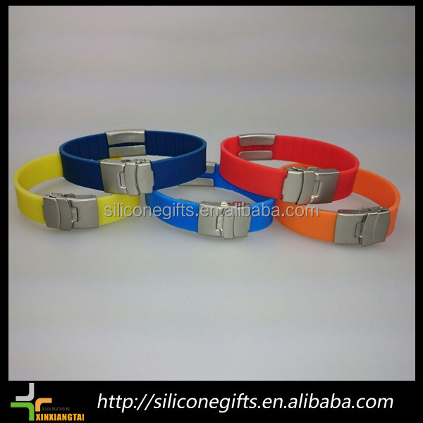 china promotional prevent lossing silicon shamballa bracelet with id plate