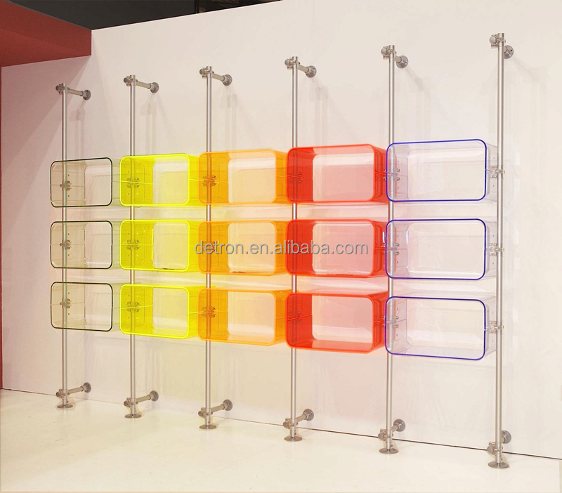 Elegant Wall Mounted Acrylic Nike Shoe Display Rack Stand