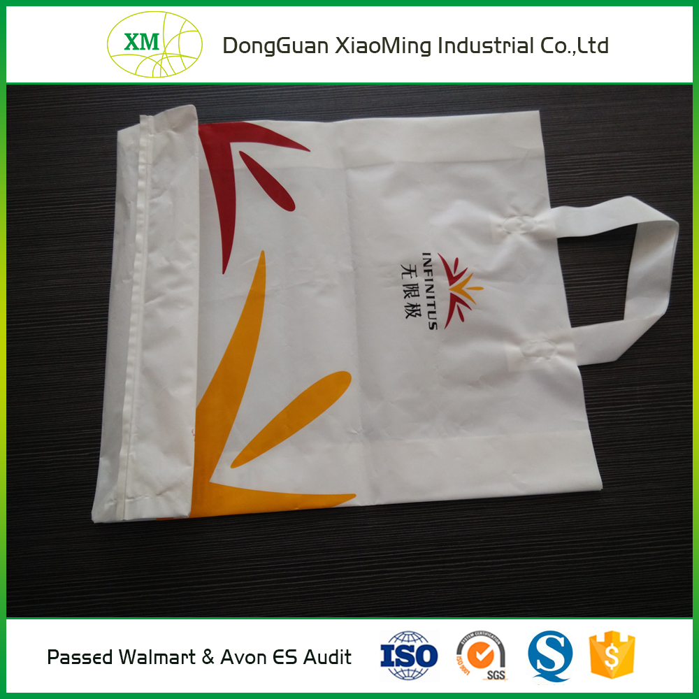Suppermarket recycled cheap handle plastic colour shopping bags