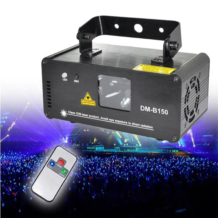 Blue DMX512 3D Text Laser Light Show Projector With Remote Control