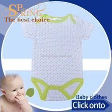 Custom and wholesale baby clothes factory white vest baby BB071