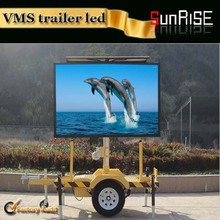 8mm outdoor full color video player letter boards mobile trailer advertising led panel sign