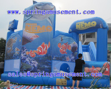 Famous inflatable hot sale combo ocean theme bouncer for sale SP-C6005
