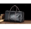 New Black travel Classic Genuine pu Leather Luggage Messenger Shoulder Bag