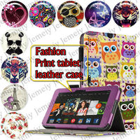 "For Amazon Kindle fire HDX 8.9"" Tablets Printing Folding PU Leather Case Media Stand Folio Case Cover"