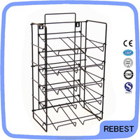 Conventional free standing wire book display rack