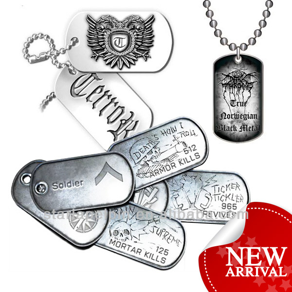cheap men military dog tag necklace