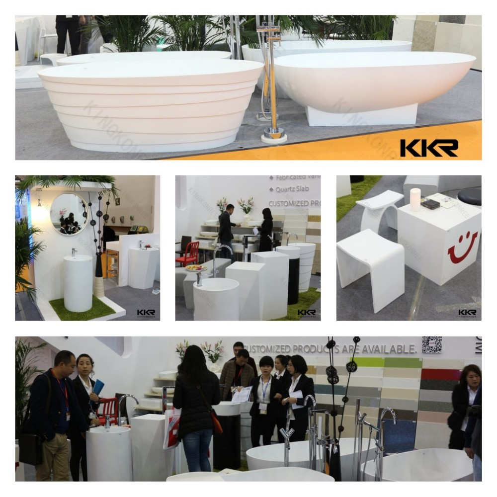stone solid surface hotel round bathtubs prices