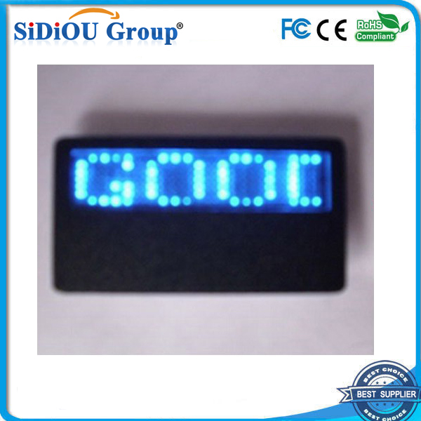programmable scrolling led name badge led name badge