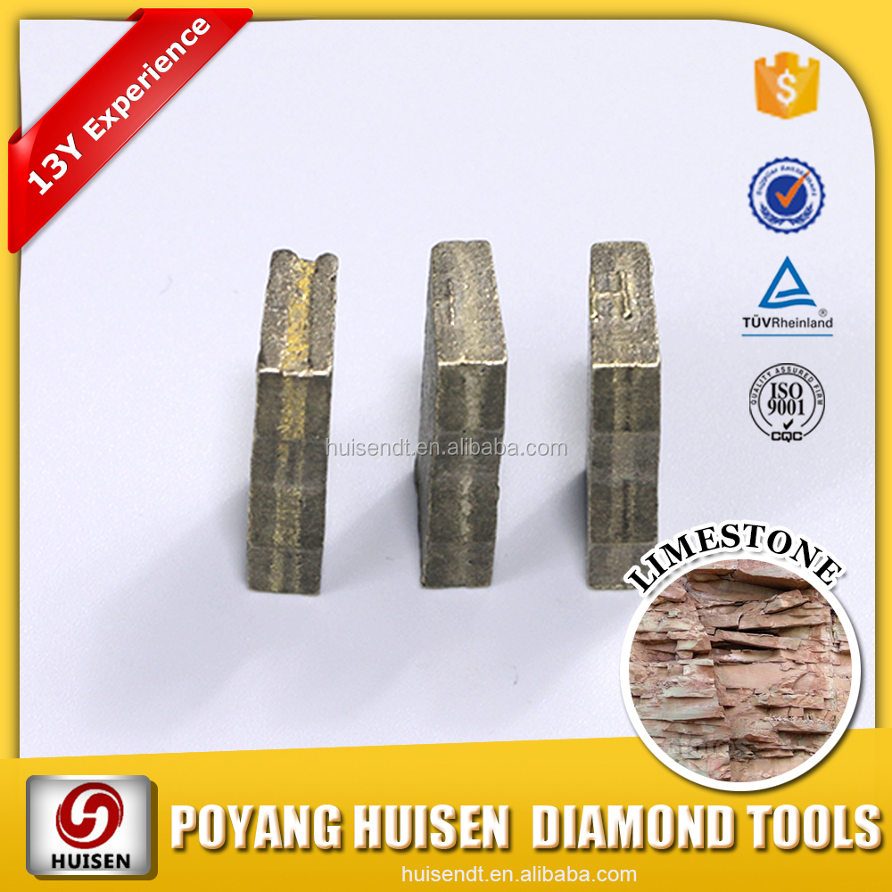 Diamond Limestone Segment Offered Diamond Cutting Tools For Soft Stone Cutting Wire