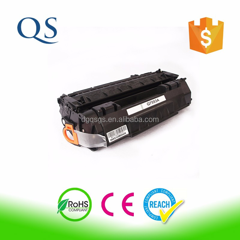 For hp laser jet printer 1320 black toner cartridge 7553x with good toner powders