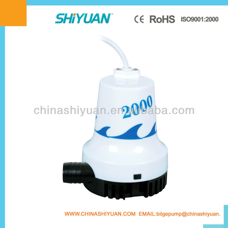 Submersible Bilge Pump/Marine Pet/12V WWB-05808 2000GPH 24V HOT SALE BILGE PUMP
