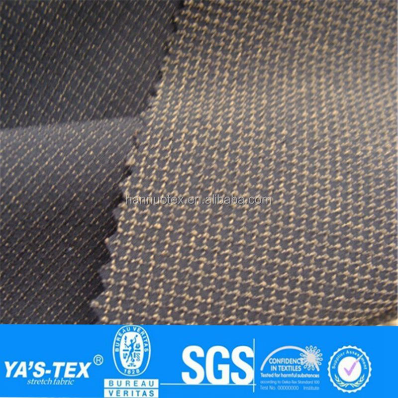 China Product Cut Resistant Woven Polyester Spandex Ribstop Fabric For Men Suit