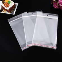 Custom Printed Different Size Self Adhesive Clothing Bag, Clear Poly Flat Pouch With Stick Tape>