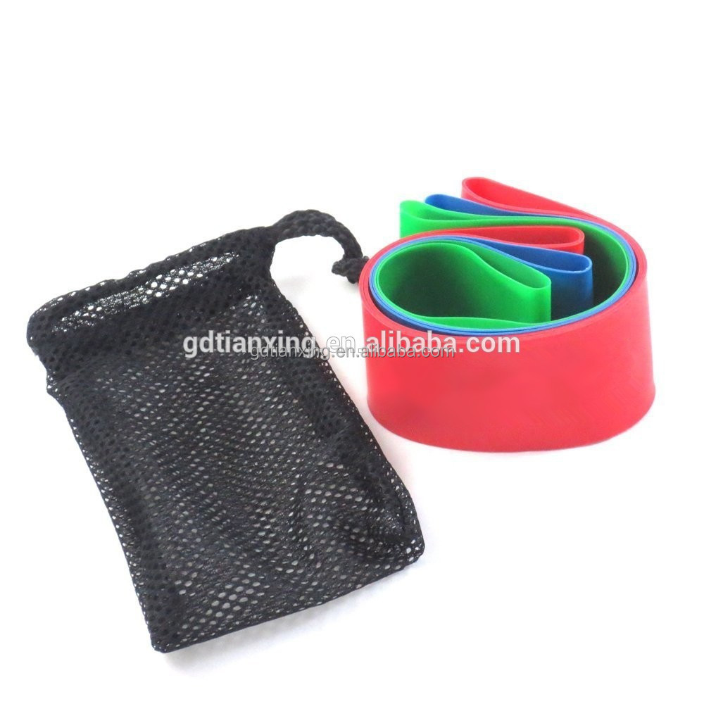 Exercise Loop Bands Wide Extra Long Resistance Loop Bands for Exercise - Set of 5