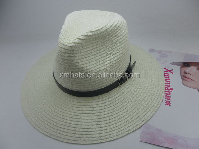 2015 New Hot Fashion High-ranking panama wholesale adults knit straw caps