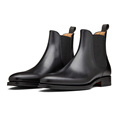 Wholesale Fashion Winter Woman Black Genuine Leather Chelsea Ankle Mens Boots