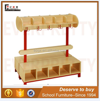 Modern School Furniture Kids Bookshelf bookcase with Toy Storage