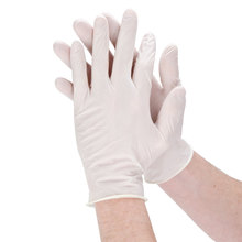 powdered latex examination gloves food service in safety gloves