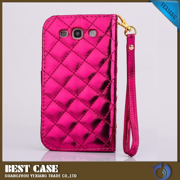 with string wallet leather case for samsung galaxy s3 sch-s968c bling cover