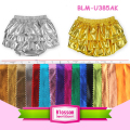Fashion Girls Pure Sequin Layers Metallic Gold Shorties pattern baby bloomers