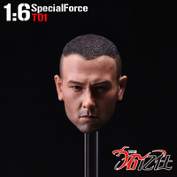Asian War Wolf Special Forces 1/6 Male Head Sculpt PengYuYan For 12 Inch Custom Action Figure Military