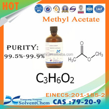 Purity 99.5% min Methyl acetate C3H6O2 for cosmetic