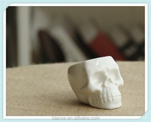 ceramic skull design planter white skull shape flower pot