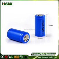 RCR123A 3.2V 17280 650mAh Li-ion battery with PCM for flashlight