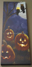 Halloween decoration alibaba express china supplier pumpkin lanterns and owl led printing canvas