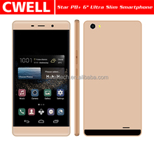 6 Inch Big Touch Screen Mobile Phone Android 4.4 MTK6572 Dual Cores 5.0MP Camera WIFI 2.5D Curved Screen Star P8 Android Phone