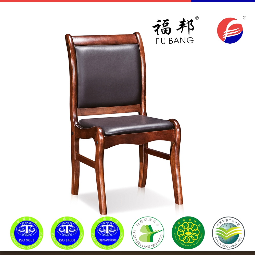 Wood conference chairs - Classic Cheap Solid Wood Leather Conference Office Armrest Meeting Room Guest Chair